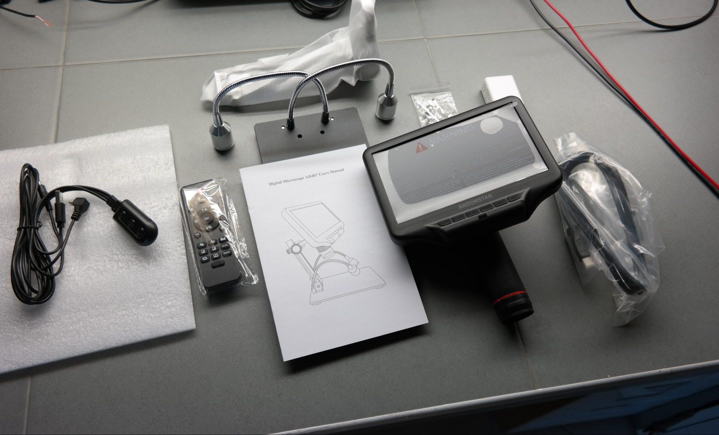 Andonstar AD407 HDMI Digital USB Microscope Review