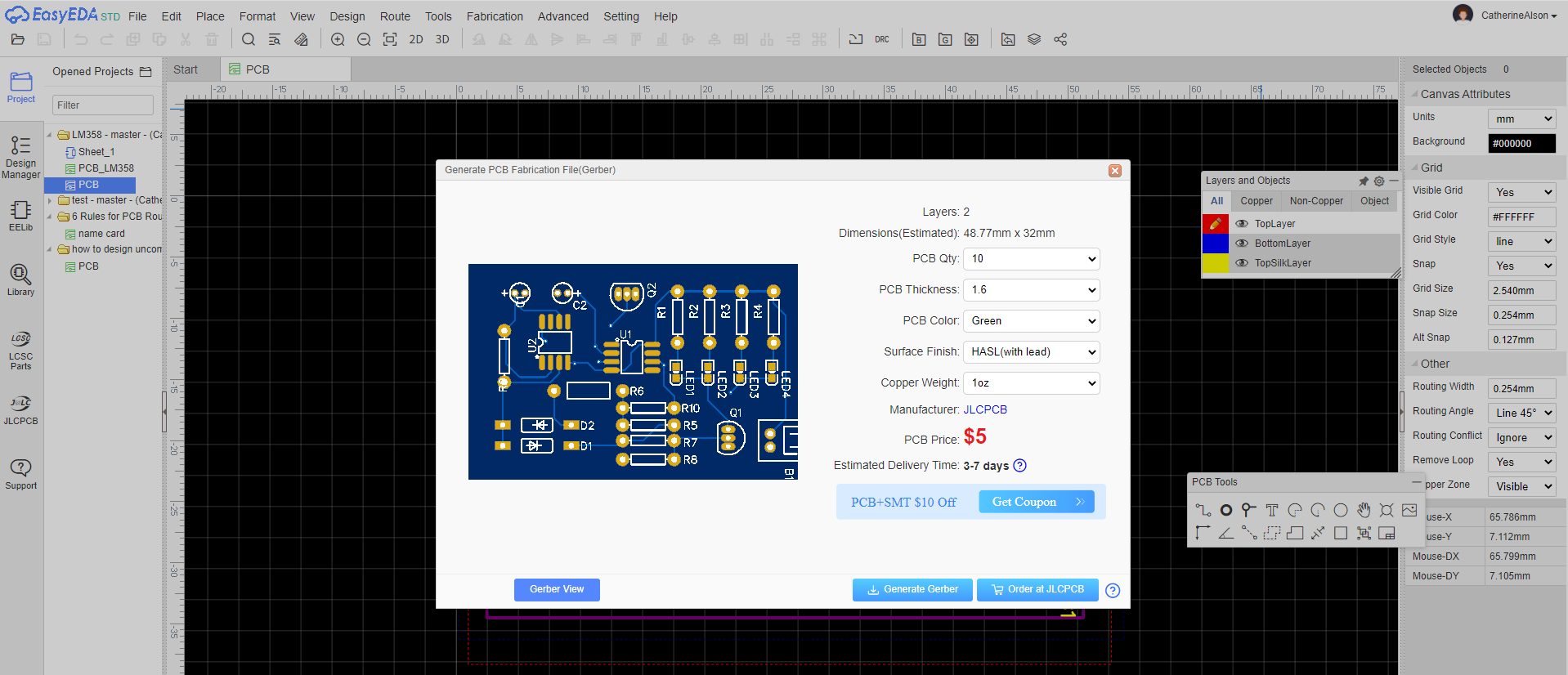 PCB Manufacture and Assembly with JLCPCB in Easier Way