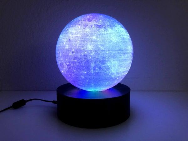 3D Printed Moon Lithophane Lamp