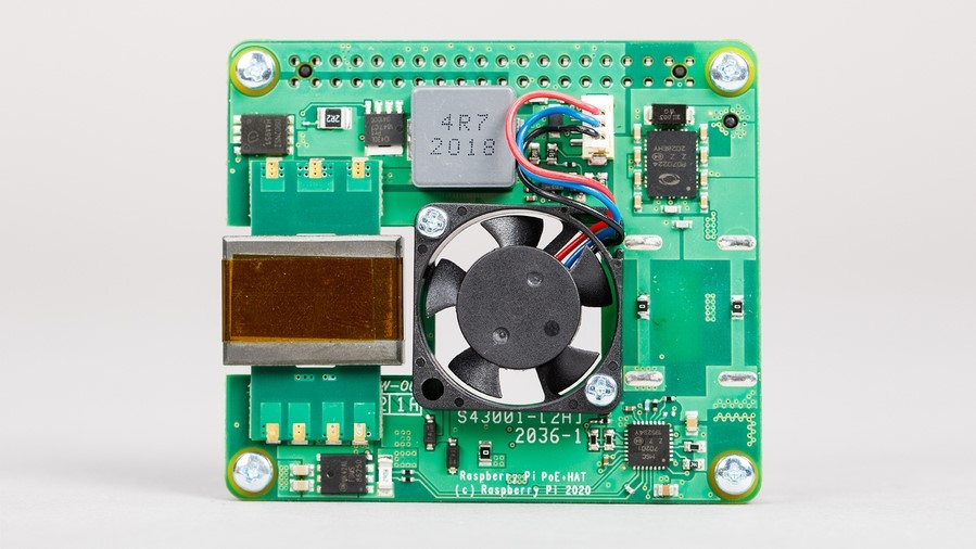 Latest Raspberry Pi PoE+ HAT
