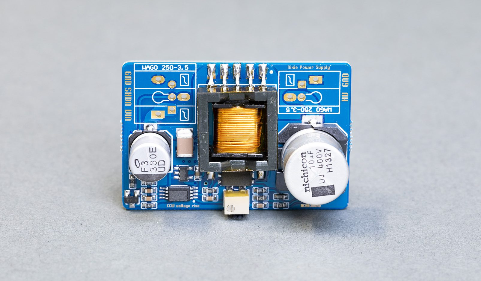 NCH6300HV high voltage DC-DC power booster for nixie displays