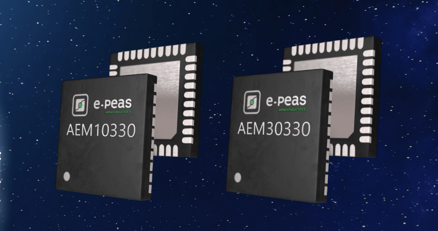E-PEAS New Buck-Boost ICs enables Highly Efficient Energy Harvesting from Solar & Vibrational Sources