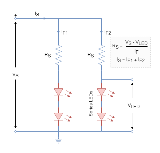Series and parallel LEDs