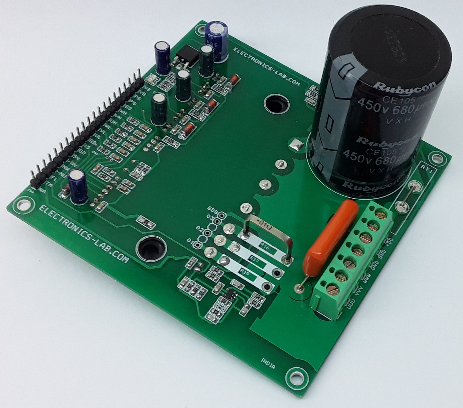600V – 30A IPM Module Carrier Board for Variable Frequency Drive (VFD)