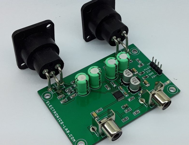 Stereo Balanced to Unbalanced Audio Converter
