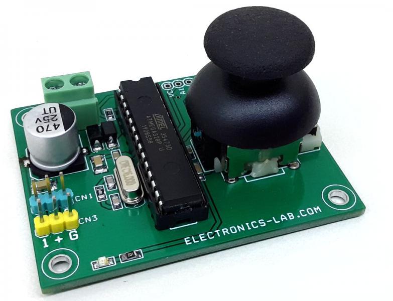 Joystick Controlled 2 x RC Servo motors – Arduino Compatible
