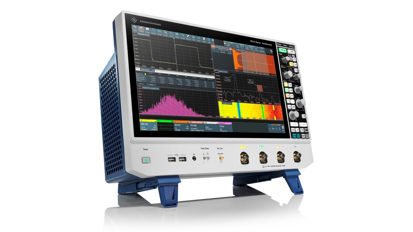 New R&S RTO6 oscilloscopes from Rohde & Schwarz deliver instant insights thanks to enhanced usability and performance