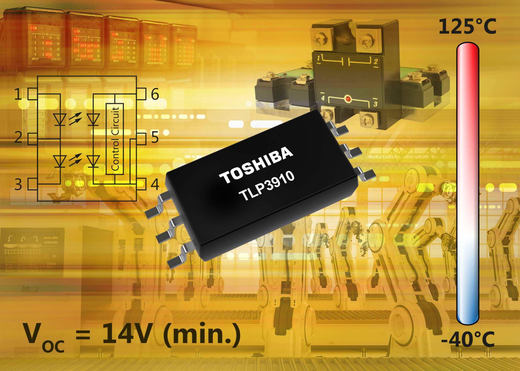 Toshiba announces new photovoltaic-output photocoupler