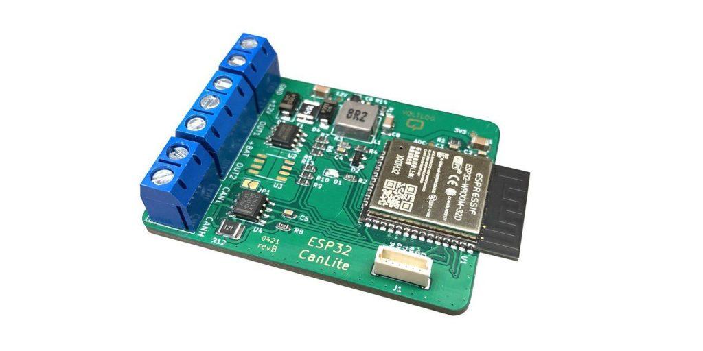 VoltLog's CanLite is an ESP32-based CAN Bus Development Board