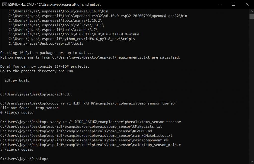 Copy Temperature Sensor Folder