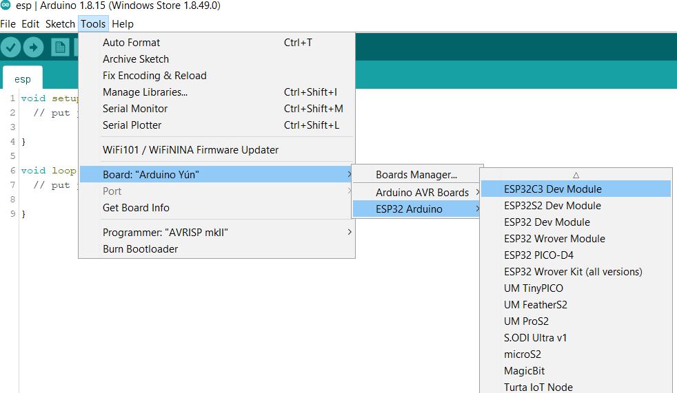 ESP32C3 Dev Module