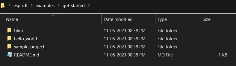 Getting Started Folder for ESP32-C3-DevKITM-1 on ESP-IDF
