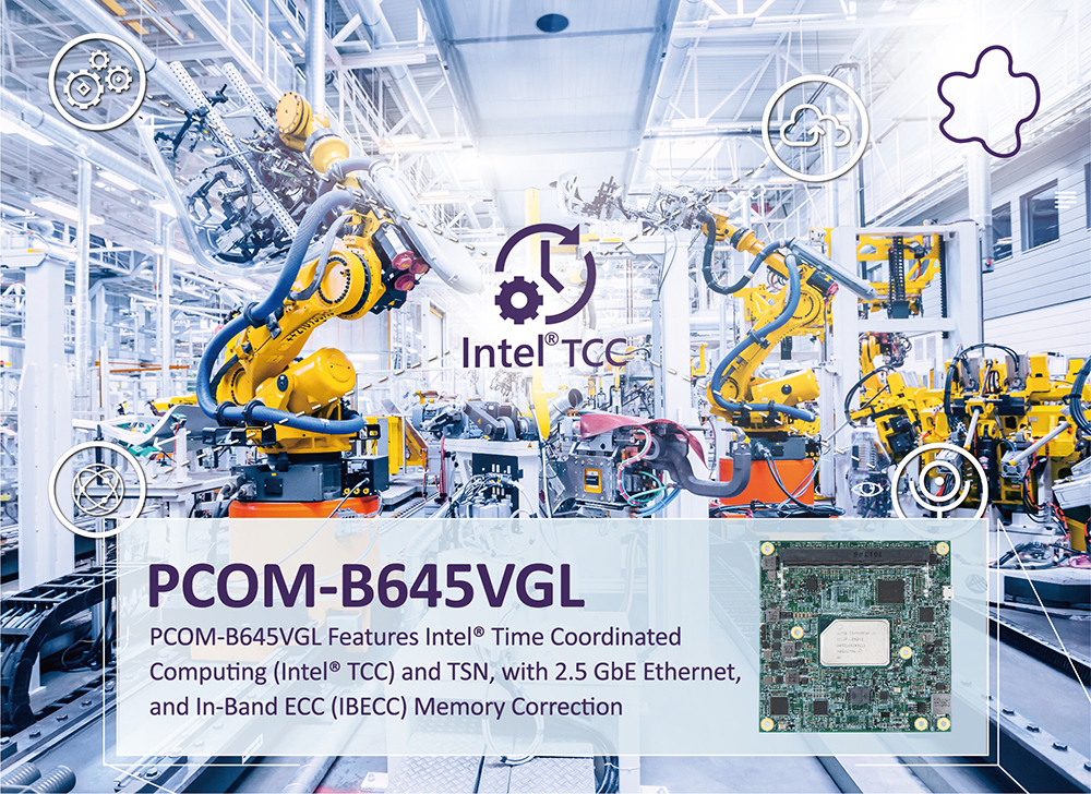 PCOM-B645VGL is COM Express Type 6 Compact Module Powered by Intel Atom x6000E Series Processor