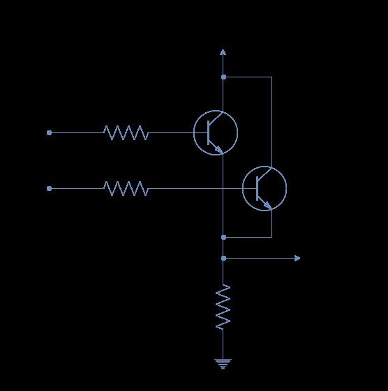 Resistor Transistor OR Logic