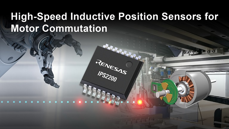 Renesas IPS2200 inductive position sensor IC is capable of providing the absolute rotor position