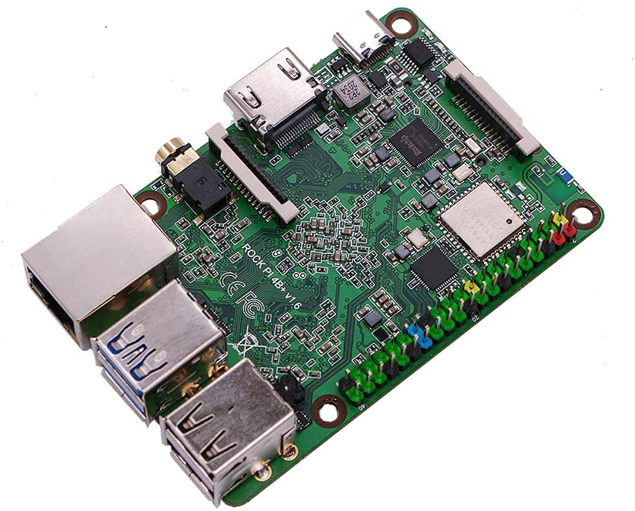 Rock Pi 4 Plus SBC Features Rockchip OP1 Processor and eMMC Storage with Twister OS Armbian