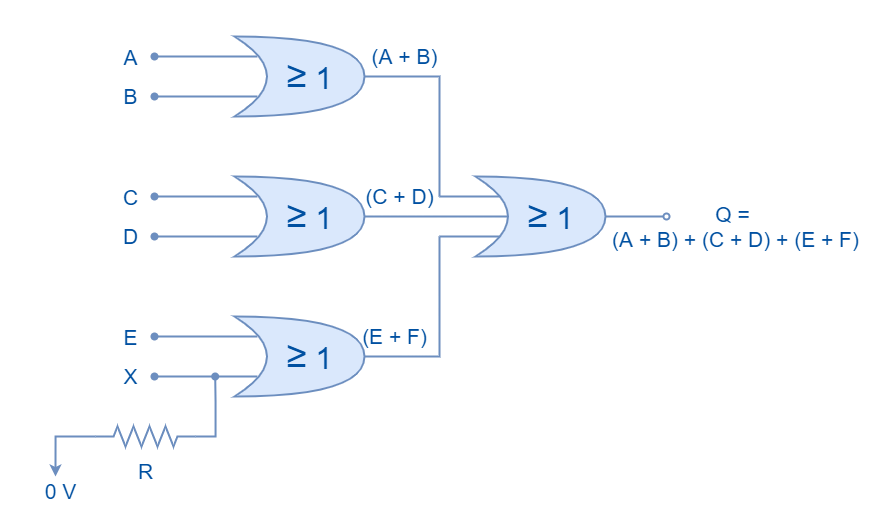 Logic OR Gate with odd number of inputs