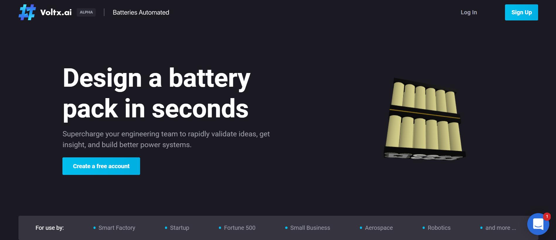 Voltx.ai – AI-Based Rapid Battery Pack Design Service