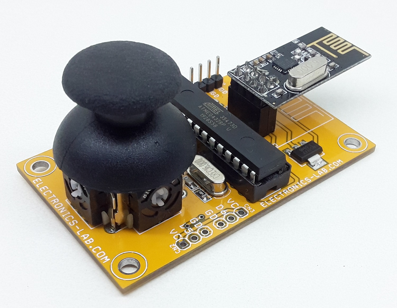 Single Joystick Remote Control Transmitter using NRF24L01 – Arduino Compatible
