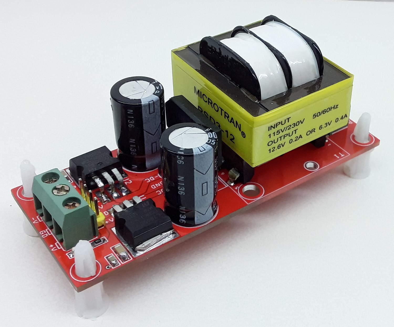 Dual +5 V/-5V @ 200 mA Regulated Linear Power Supply