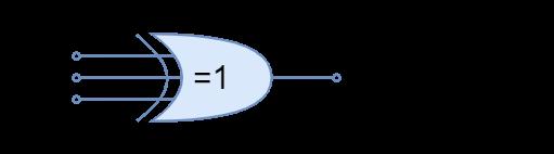 Three input Exclusive OR logic