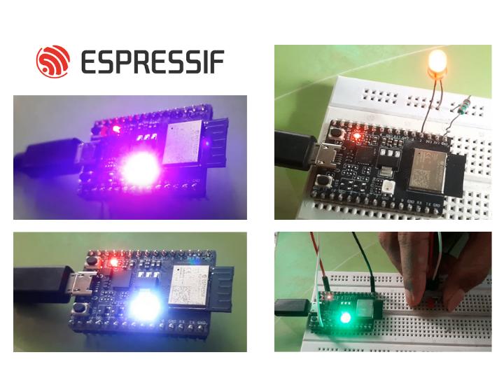LED Blink Use Cases with ESP32-C3-DevKITM-1 using ESP-IDF Framework