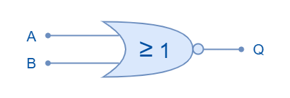 Logic NOR Gate Symbol
