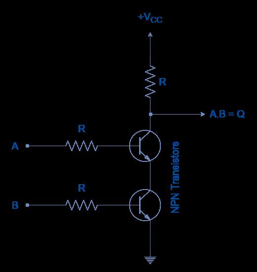 NAND Gate using Resistor Transistor Logic