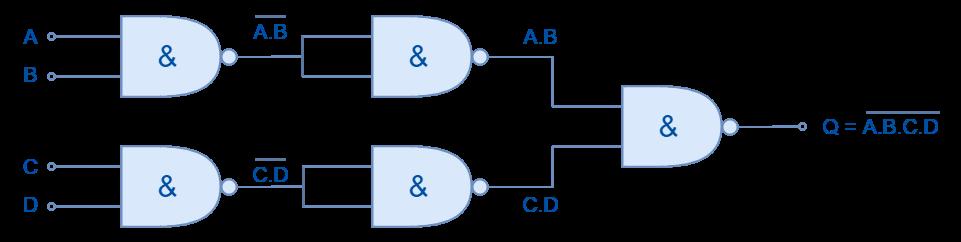 Cascaded NAND gates