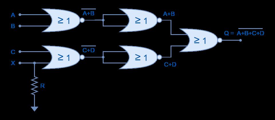 Odd inputs using NOR logic gates
