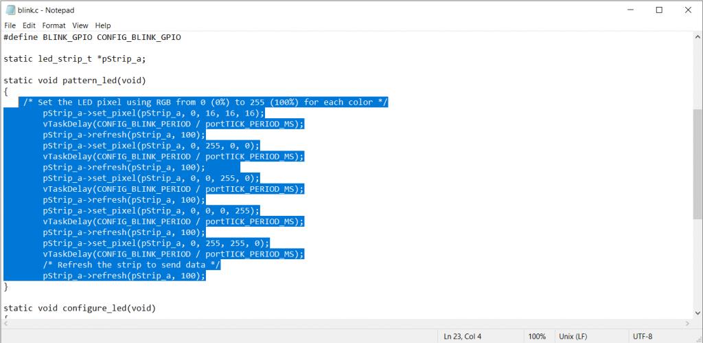 void pattern function