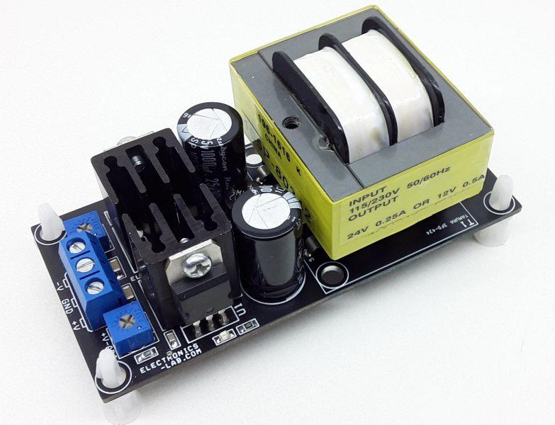 Dual Output Adjustable Linear Power Supply +/-1.2V to +/-12V @ 250mA