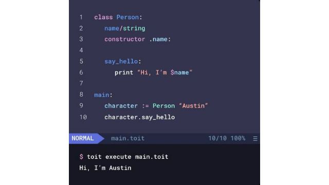 Toit Programming Language