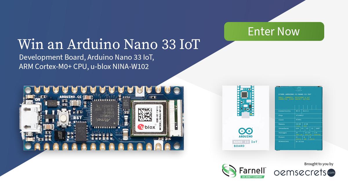 Win an Arduino Nano 33 IoT