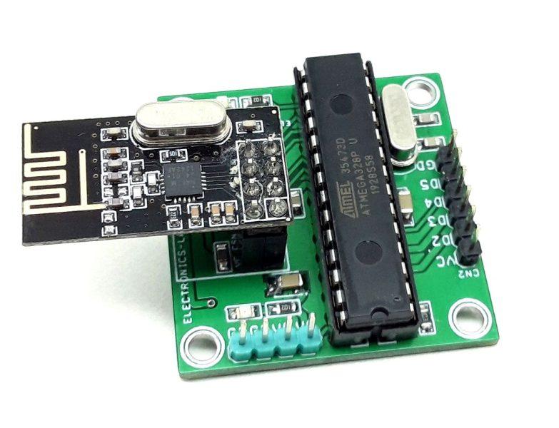 4-Channel Remote Receiver Using NRF24L01 Radio Module – Arduino Compatible