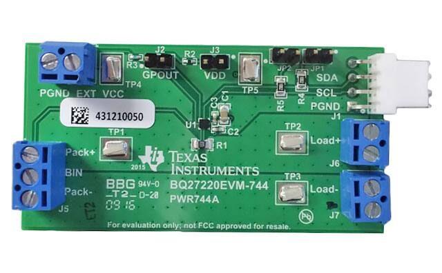 BQ27220 – Single cell pack/system-side CEDV battery fuel (gas) gauge w/pre-programmed chemistry profiles