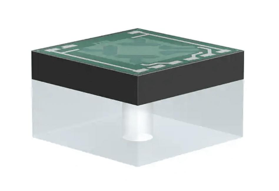 TDK's MEMS Pressure Sensor Element measures in a range of 0 mbar to 100 mbar