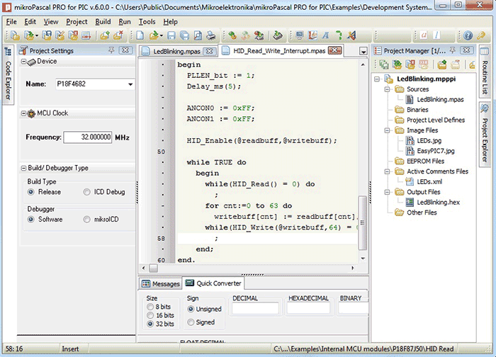 Microcontroller Software - Electronics Lab